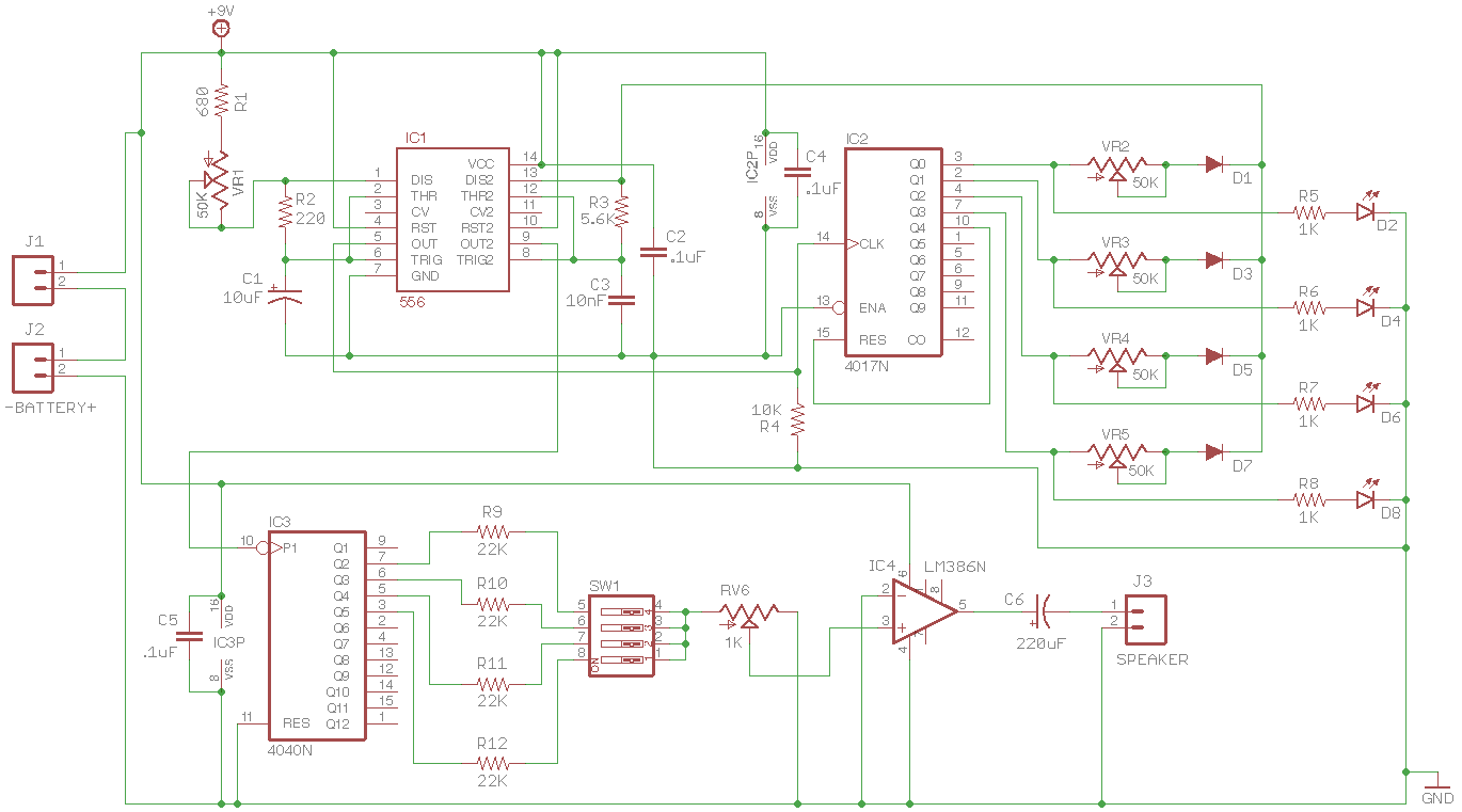 Four Step Octaved Sequencer schematic
